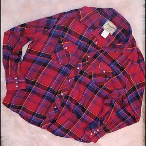 Wrangler western fashion snap shirt flannel